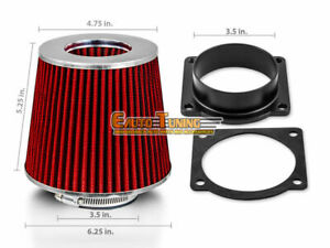 Air Intake Maf Adapter Red Filter For 93 96 Ford F150 5 0 V8