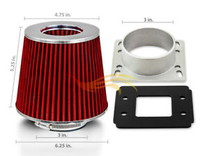 Air Intake Maf Adapter Red Filter For 90 97 Mazda Miata Mx5 1 6 1 8