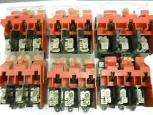 Lot Of Six Knife Switches used