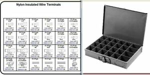 Nylon Electrical Terminal Assortment 450 Pc Metal Tray