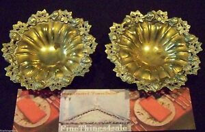 Antique Victorian Classical Brass Bronze Footed Bon Bon Nut Dishes