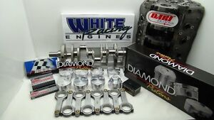 Bbc 588 Chevy Cid Diamond Pistons 4340 Kit 4 Bolt Splayed Dart Block