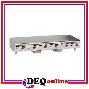 Wolf Agm72 Manual Control Heavy duty Gas Griddle 72 W X 24 D Griddle Ng Or Lp