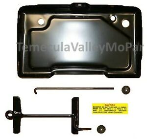 Battery Tray Hold Down Set For 1970 1973 Mopar C Body Imperial