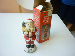 Vintage 1995 Christmas Tree Ornament Old World Santa Porcelain