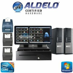 Aldelo Pos Pro Restaurant Complete System 2 Stations Windows 7 Pro New I3 4gb