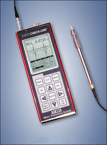 Ti pvx 2550 Ultrasonic A scan Thickness Gauge With 1 4 5mhz Delay Line Probe