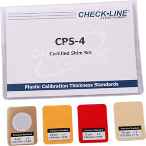 Cps 4 Coating Thickness Gauges Certified Plastic Shims Set Of 4