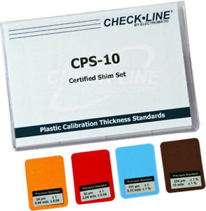 Cps 10 Coating Thickness Gauges Certified Plastic Shims Set Of 4