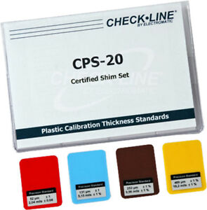 Cps 20 Coating Thickness Gauge Certified Plastic Shims Set Of 4