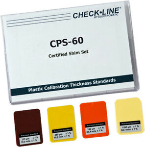 Cps 60 Coating Thickness Gauges Certified Plastic Shims Set Of 4