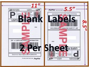 S 1400 Shipping Labels Blank Labels 2 sheet usps Ups Fedex Paypal Self Adhesive