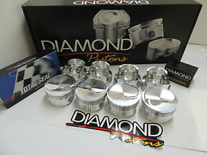 Bbc Chevy 496 Diamond Pistons 4 280 Bore With Total Seal Rings wpm 100581