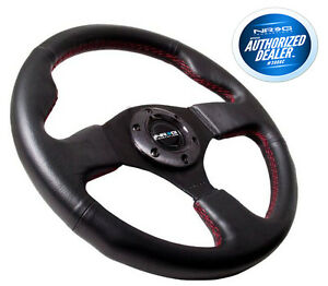Nrg Steering Wheel Race Leather With Red Stitch 320mm Type r Style Rst 012r rs
