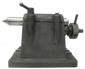 Unknown Brand Tailstock Center Stand Approx 6 1 2 Center To Base