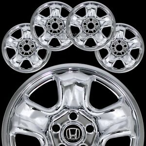4 Fits Honda Crv 2012 16 Chrome 16 Wheel Covers Rim Skins Hub Caps Steel Wheels