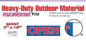 Open Banner Sign Grand Opening New Owner Management Promotional 24 Hours Now