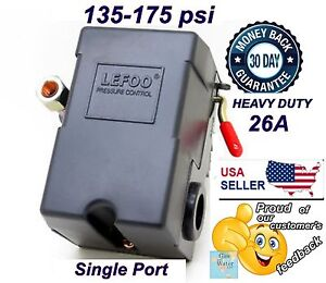 Pressure Switch For Air Compressor Control 135 175 Psi Single Port 26a By Lefoo