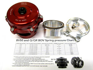 Tial Q Blow Off Valve Bov 50mm With 10 Psi Aluminum Flange New Version 2 Red