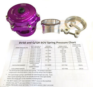 Tial Q Blow Off Valve Bov 50mm With 10psi Aluminum Flange New Version 2 Purple
