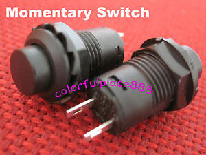 500 12mm Black Momentary Off on N o Push Button Car boat Switch Normally Off