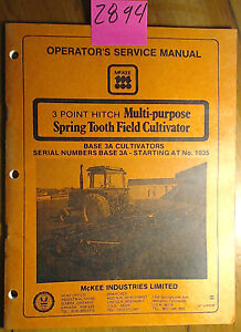 Mckee 3 Point Hitch Multi purpose Spring Tooth Field Cultivator Base 3a Manual