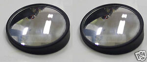 2 Round 360 Adjustable Blind Spot Mirror Wide Angle Convex 2 Pcs Stick on Usa