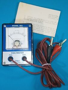 Vintage Orbit Laboratories Dc Voltmeter 0 25 Vdc Bakelite Back