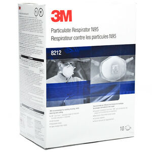 3m 8212b Particulate Welding Respirator Disposable W faceseal 10 bx Free Us Ship