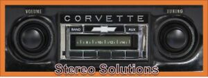 1968 1976 Chevy Corvette New Am Fm Stereo Radio Usa 230 200 Watts Auxiliary In