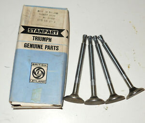Nos Stanpart Set Of Exhaust Valves For Triumph Herald 1200