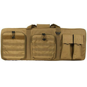 36 Aim Tan Double Police Swat Ops Military Sniper Rifle Carrying Gun Bag Case