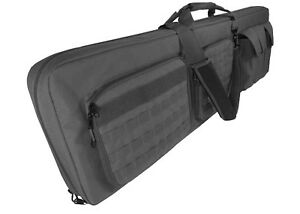 46 Aim Black Double Police Swat Ops Military Sniper Rifle Carrying Gun Bag Case