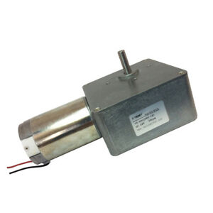 24vdc 28rpm High torque Drive Pmdc Worm Geared Motor With Gearbox Gear Reducer