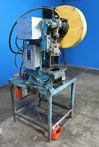 5 Ton Alceco Model Obi Power Stamping Punch Press Table Mounted Metal Holes