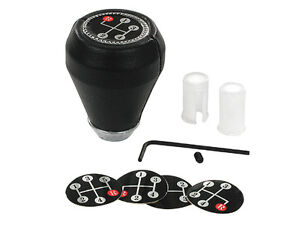 Black Shift Knob W Decals 3 4 5 Speed Manual Transmission Shifter Multi Pattern