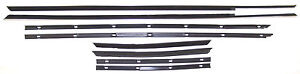 1967 Ford Galaxie 500 Xl Convertible New Window Sweep Seals Belt Line Molding