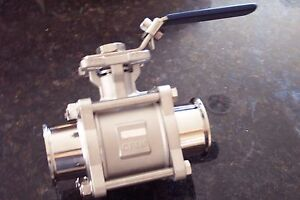 Stainless Steel Sanitary Ball Valve Tri clamp 2 t316 Bv2316