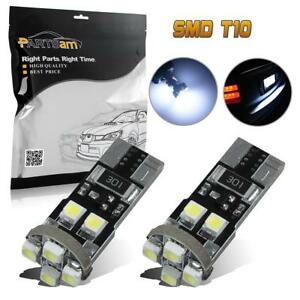 2x Parking Side Marker Position Lights Canbus Error Free 8 Smd 168 194 Led Bulbs