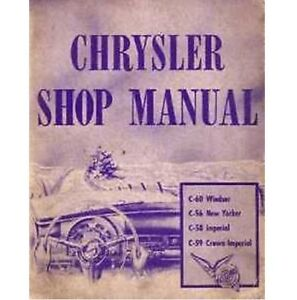Factory Shop Service Manual For 1953 Chrysler