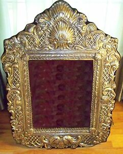 Massive Sterling Dressing Table Mirror Vanity Dresser Style Ornate Heavy Fancy