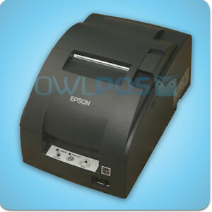 Micros Epson Tm u220b Receipt Printer Impact Idn Ports Dark Gray Refurb M188b