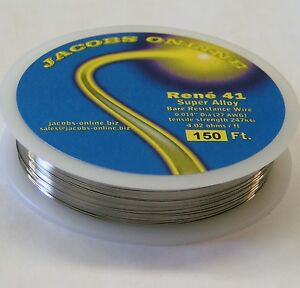 Rene 41 Resistance Wire 014 27ga 150 Ft Superalloy Ultimate Hot Wire Cutting