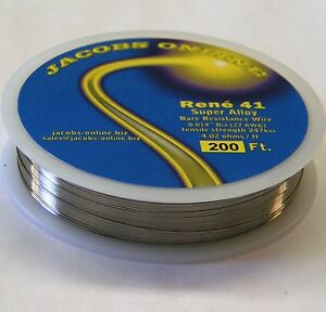 Rene 41 Resistance Wire 014 27ga 200 Ft Superalloy Ultimate Hot Wire Cutting
