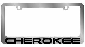 New Jeep Cherokee Word License Plate Frame