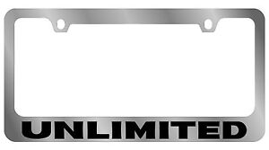 New Jeep Unlimited Word License Plate Frame