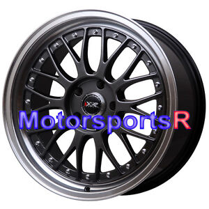 18 18x8 5 Xxr 521 Chromium Black Rims Wheels 5x114 3 07 15 16 Toyota Camry Le Se