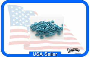 1000 X ray Opaque Orthodontic Loose Separators Blue Dental Supplies