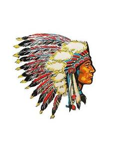 Hot Rod Rat Rod Vintage Window Decal Indian Chief 42