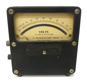 Weston Volt Meter Dc 25 1000 Cycles 0 300 Model 455 2358